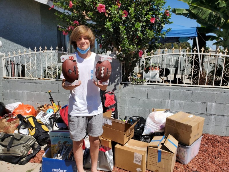 South Bay youths organize grassroots equipment drive Kei Kamara HeartShapedHands Foundation
