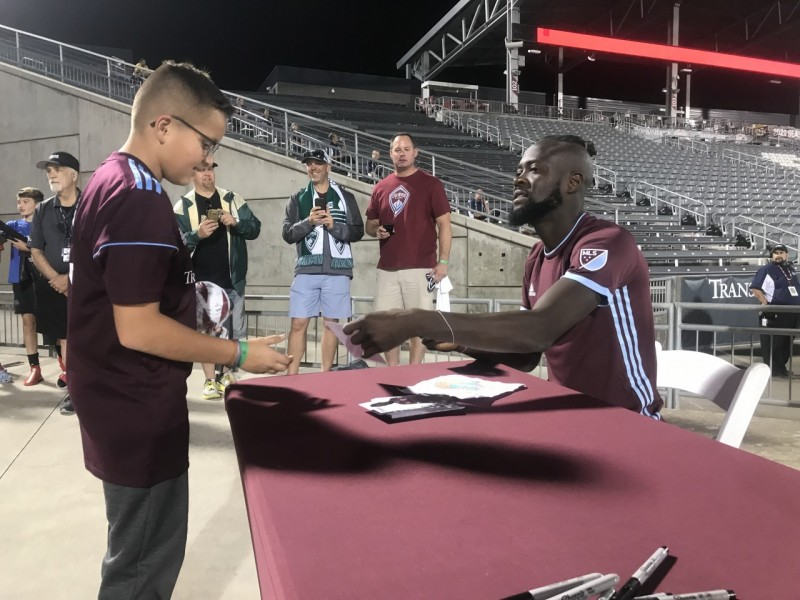 Colorado Rapids fans make big donations  Kei Kamara HeartShapedHands Foundation