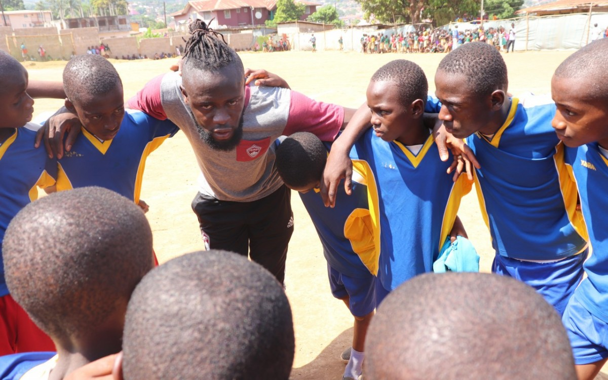 First-ever HeartShapedHands holiday clinics  Kei Kamara HeartShapedHands Foundation