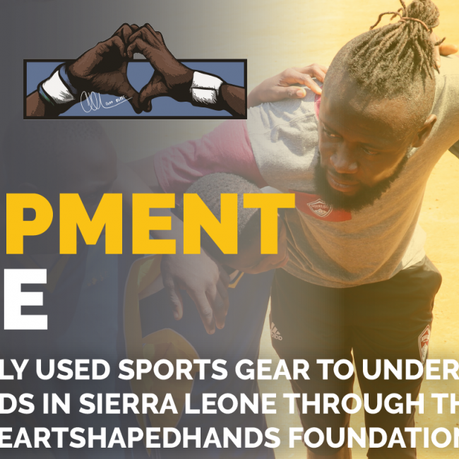 LA area youth soccer clubs host equipment drives benefitting HeartShapedHands Kei Kamara HeartShapedHands Foundation